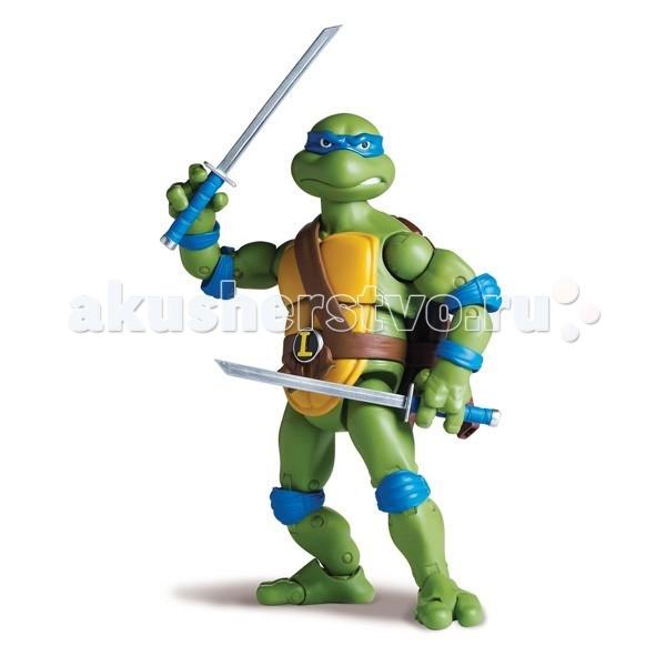 Игровые фигурки Turtles Nickelodeon Фигурка Черепашки Ниндзя Леонардо 15 см игровые фигурки turtles машинка черепашки ниндзя 7 см майки на патрульном багги