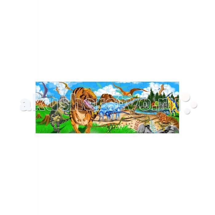 Пазлы Melissa & Doug Напольный Пазл Динозавры 48 элементов пазлы melissa