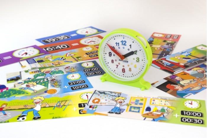 Развивающие игрушки Miniland Набор обучающий Часы Activity Clock