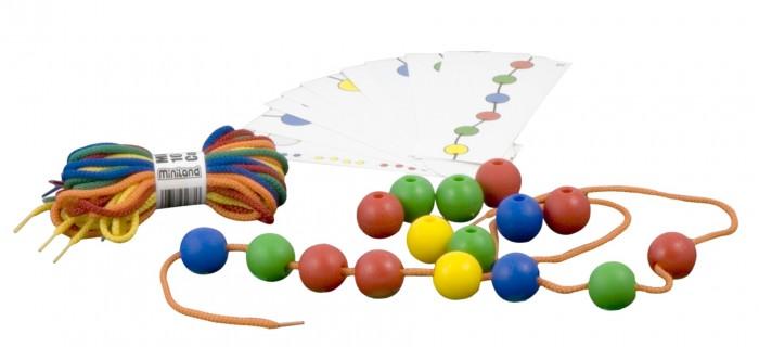 Купить Развивающие игрушки, Развивающая игрушка Miniland Набор обучающий со шнуровкой шарики Lacing Balls (60 элементов)