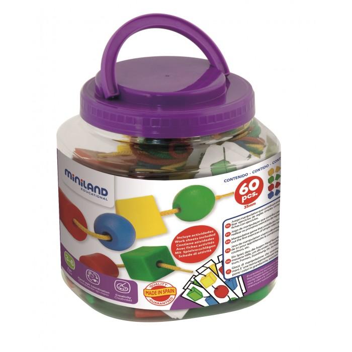 Купить Развивающие игрушки, Развивающая игрушка Miniland Набор развивающий для обучения последовательности (60 элементов)