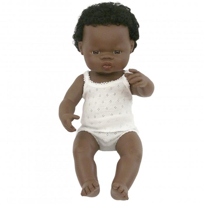 Miniland Кукла Мальчик африканец 38 см фото