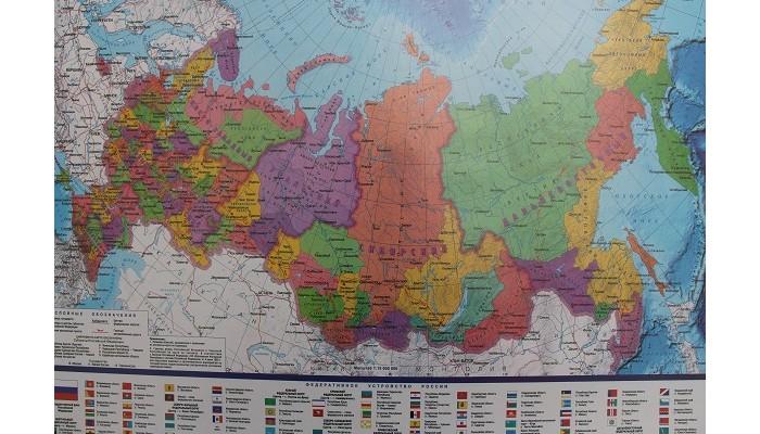 Канцелярия Kett-Up Настольное покрытие мягкое Карта РФ 38х59 см