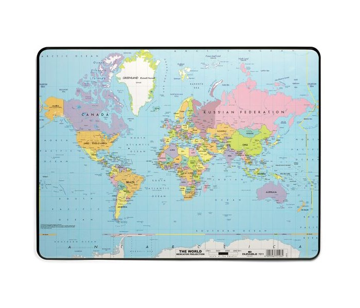 Durable Настольное покрытие 40х60 Карта Мира от Durable