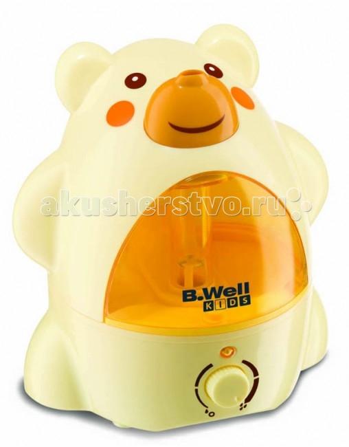 B.Well Увлажнитель воздуха ультразвуковой Kids WH-200Увлажнитель воздуха ультразвуковой Kids WH-200Ультразвуковой увлажнитель воздуха B.Well обеспечит комфортный микроклимат в детской комнате.   Увлажнитель работает почти бесшумно и не будет беспокоить Вашего малыша.  Резервуар прибора рассчитан на 2 литра воды, что обеспечивает до 18 часов работы увлажнителя без доливания воды. Прибор оснащен регулятором интенсивности пара и функцией автоматического отключения при отсутствии воды.   Прибор произведен из высококачественных материалов и соответствует действующим стандартам безопасности.  Характеристики: • Ультразвуковой метод распыления • Бесшумная работа • Дизайн, разработанный специально для детей • Емкость водного резервуара – 2 литра • Время работы без доливания воды – до 18 часов • Регулятор интенсивности пара • Удобная ручка-переноска для водного резервуара • Автоматическое отключение при отсутствии воды • Световой индикатор включения  Метод распыления: ультразвуковые колебания Продолжительность распыления без доливания воды: 18 часов Объем помещения: 50 м3 Размеры прибора: 24х19х26 см Вес прибора: 1.62 кг Вместимость резервуара: 2 литра Выход «холодного пара»: 120 куб. см. в час +/- 30 куб. см. Средство безопасности: плавающий датчик Питание: от сети Напряжение: 230 В переменного тока, 50 Гц Мощность: 21 Вт<br>