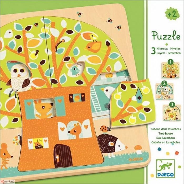 Картинка для Djeco Пазл трехслойный Дом-дерево