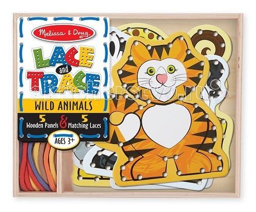 Деревянные игрушки Melissa & Doug Звери дикие звери