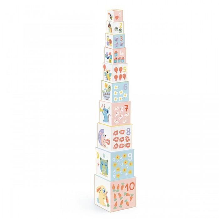 Купить Развивающие игрушки, Развивающая игрушка Djeco Кубики-пирамидка Блоки