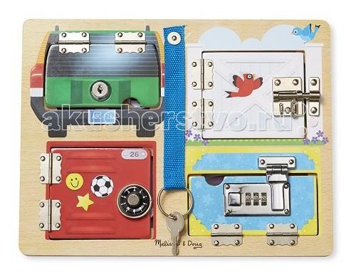 Деревянная игрушка Melissa & Doug Первые навыки Доска с замочками