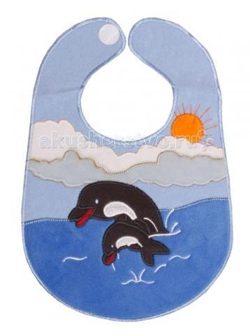 Нагрудники Sevi Baby на липучке Дельфин