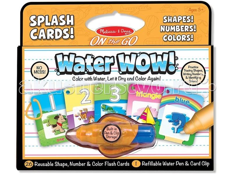 Творчество и хобби , Раскраски Melissa & Doug Раскрась водой карточки, формы, числа и цвета арт: 62953 -  Раскраски