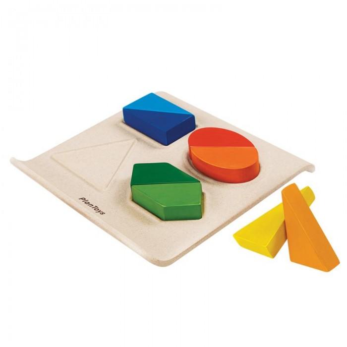 Деревянная игрушка Plan Toys Геометрические фигуры рамка-вкладыш