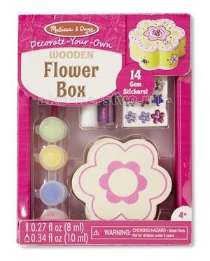 Наборы для творчества Melissa & Doug Набор создай свою шкатулку Цветок