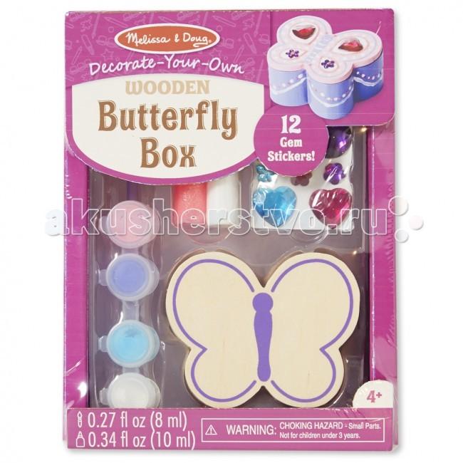 Наборы для творчества Melissa Doug Набор создай свою шкатулку Бабочка