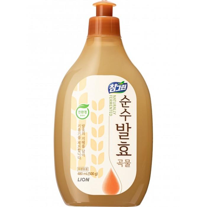 Бытовая химия CJ Lion Средство для мытья посуды Chamgreen Pure Fermentation 5 злаков 480 мл