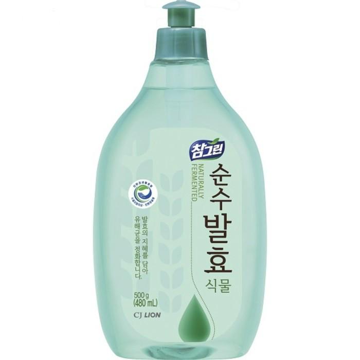 Бытовая химия CJ Lion Средство для мытья посуды Chamgreen Pure Fermentation Растительные ферменты 480 мл