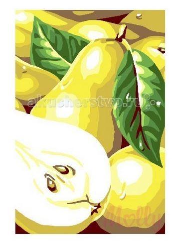 Картины по номерам Molly Картина по номерам Груши 20х30 см стол журнальный мебелик комфорт 3 орех средне коричневый