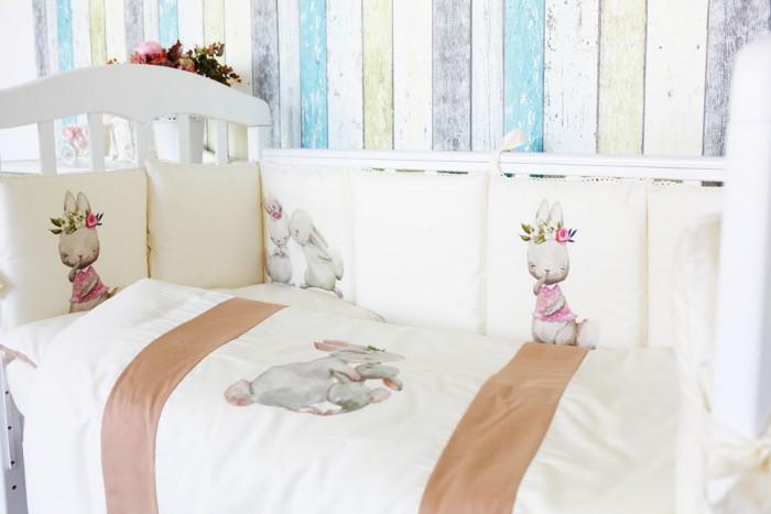 Картинка для Комплект в кроватку Топотушки Зайка-Акварель (6 предметов)