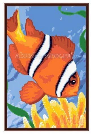 Картины по номерам Molly Картина по номерам Рыбка 20х30 см мозаика по номерам золотая рыбка