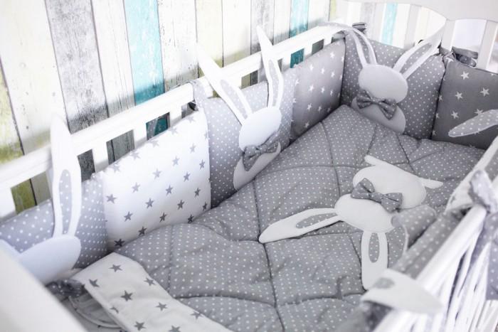 Купить Комплекты в кроватку, Комплект в кроватку Топотушки Зайка (5 предметов) 678