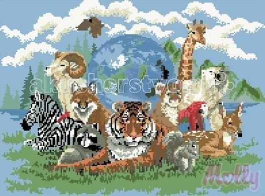 Творчество и хобби , Картины своими руками Molly Мозаичная картина Планета зверей 40 х 50 см арт: 63049 -  Картины своими руками