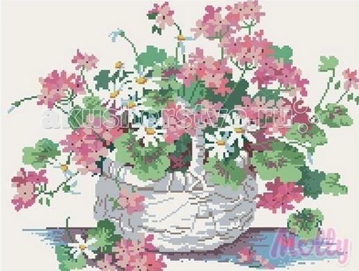 Творчество и хобби , Картины своими руками Molly Мозаичная картина Полевые цветы 40х50 см арт: 63050 -  Картины своими руками