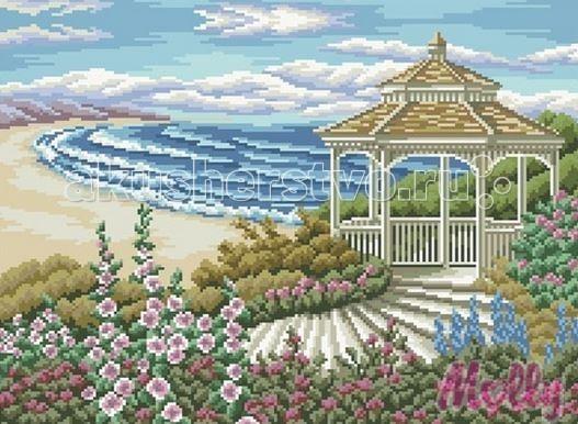 Творчество и хобби , Картины своими руками Molly Мозаичная картина Беседка у моря 40х50 см арт: 63052 -  Картины своими руками