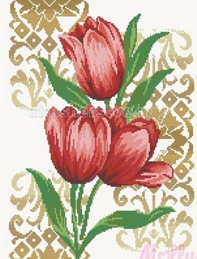 Творчество и хобби , Картины своими руками Molly Мозаичная картина Тюльпаны 40х50 см арт: 63053 -  Картины своими руками