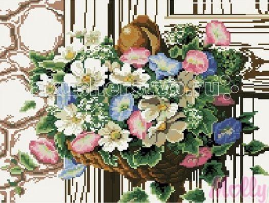 Картины своими руками Molly Мозаичная картина Ампельные цветы 40х50 см картины своими руками molly мозаичная картина портрет леопарда 40х50 см