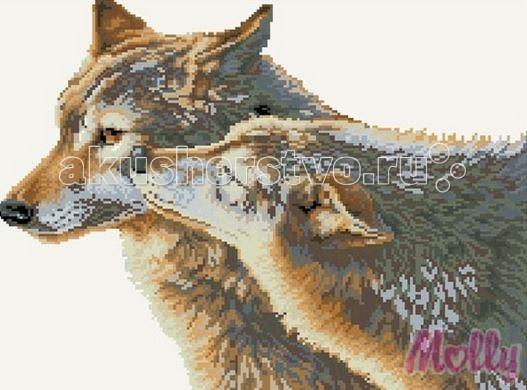 Molly Мозаичная картина Волчья нежность 40х50 см