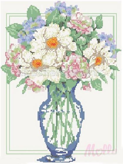 Творчество и хобби , Картины своими руками Molly Мозаичная картина Букет для мамы 40х50 см арт: 63061 -  Картины своими руками