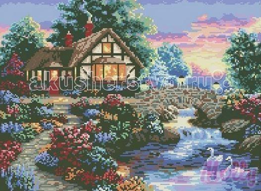 Molly Мозаичная картина Загородный домик 40х50 см