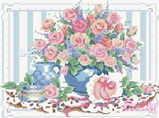 Творчество и хобби , Картины своими руками Molly Мозаичная картина Розовый букет 40х50 см арт: 63070 -  Картины своими руками