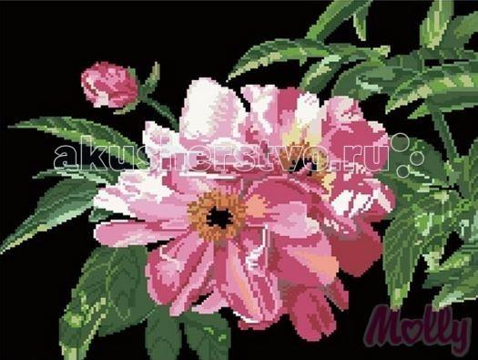 Творчество и хобби , Картины своими руками Molly Мозаичная картина Цветок шиповника 40х50 см арт: 63074 -  Картины своими руками