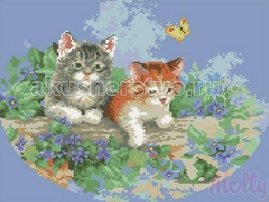 Творчество и хобби , Картины своими руками Molly Мозаичная картина Малыши 40х50 см арт: 63075 -  Картины своими руками