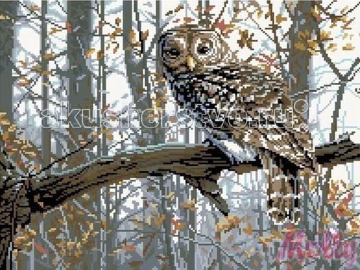 Molly Мозаичная картина Филин 40х50 см