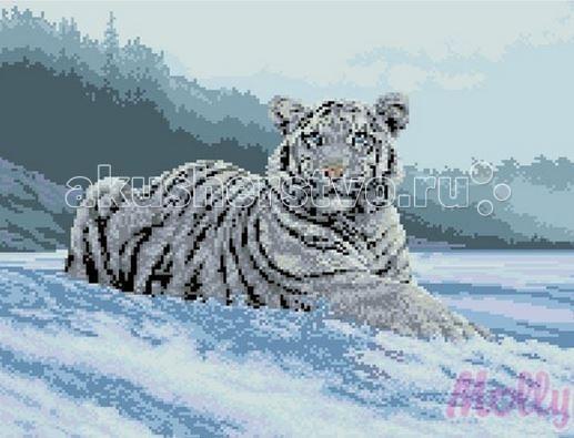 Molly Мозаичная картина В снегу 40х50 смМозаичная картина В снегу 40х50 смМозаичная картина Molly В снегу 21 цветов - оригинальный набор, позволяющий создать первую картину, благодаря поэтапной выкладке мозаикой полотна.    В наборе:    Тканевый холст с клеевым слоем и с нанесенной схемой рисунка;  Металлический пинцет;  Пластиковый контейнер для элементов мозаики;  Специальный карандаш;  Клей-липучка для карандаша;  Комплект разноцветных мозаичных элементов диаметром 2,5 мм;   Размер: 40 х 50 см Количество цветов: 21 Уровень сложности: сложный<br>