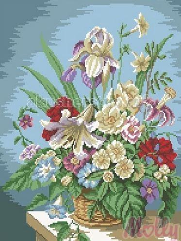 Творчество и хобби , Картины своими руками Molly Мозаичная картина Цветочная композиция 40х50 см арт: 63085 -  Картины своими руками