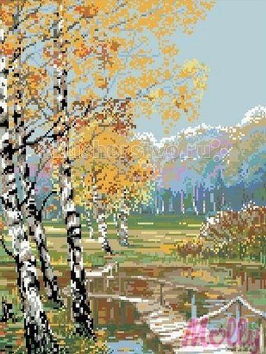 Molly Мозаичная картина Берёзки 40х50 см
