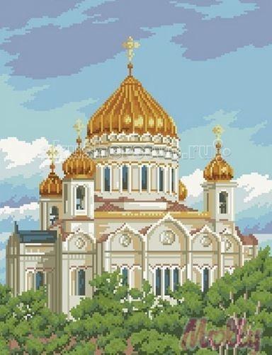 Molly Мозаичная картина Храм 40х50 см
