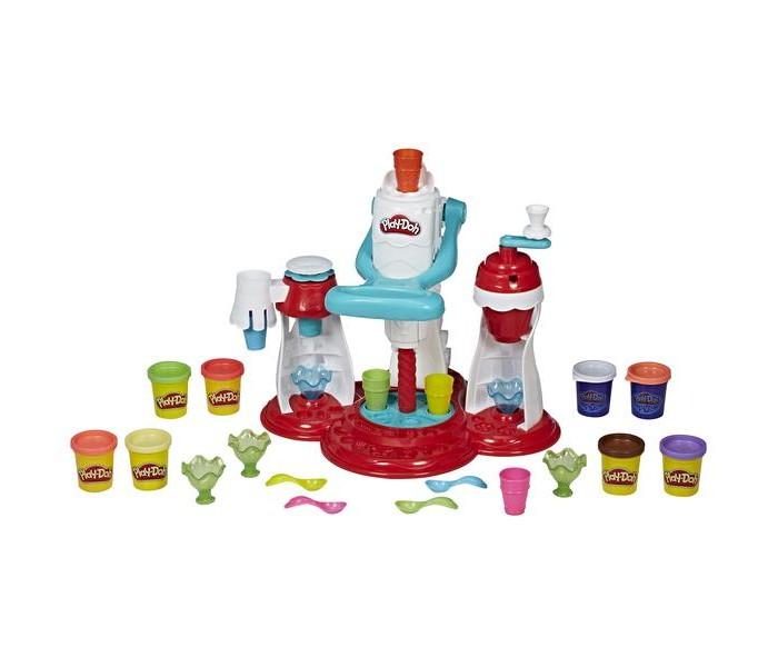Пластилин Play-Doh Игровой набор Мир Мороженого мороженое и сорбе книга с 40 рецептами 6 формочек для мороженого