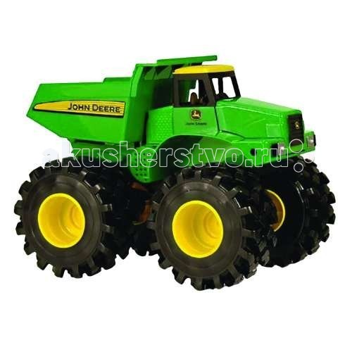 Машины Tomy Самосвал с большими колесами с вибрацией и звуком машины tomy john deere трактор monster treads с большими колесами и вибрацией