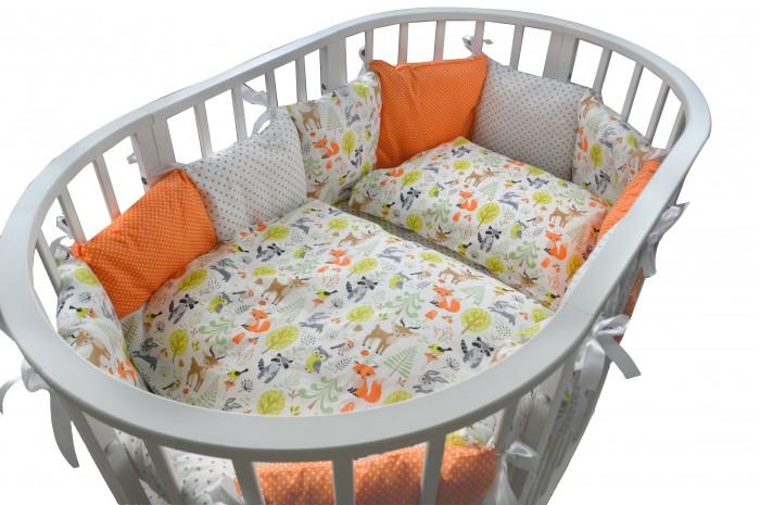 Комплекты в кроватку Forest для овальной кроватки Friends (18 предметов)