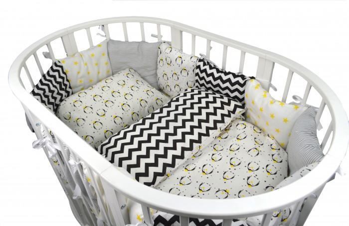 Комплекты в кроватку Forest для овальной кроватки Funny Penguins (18 предметов)