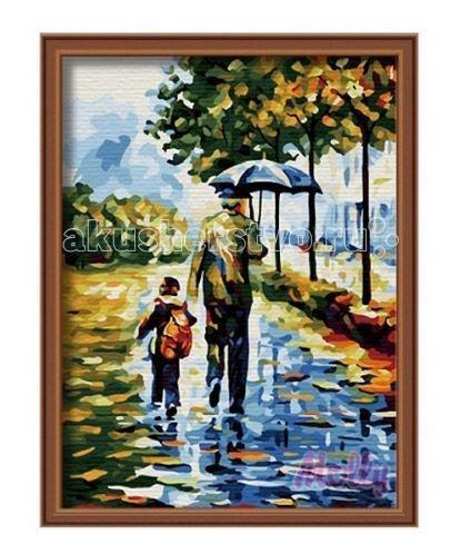 Картины по номерам Molly Картина по номерам Осенняя прогулка 30х40 см molly мозаичная картина зеленая долина 40х50 см