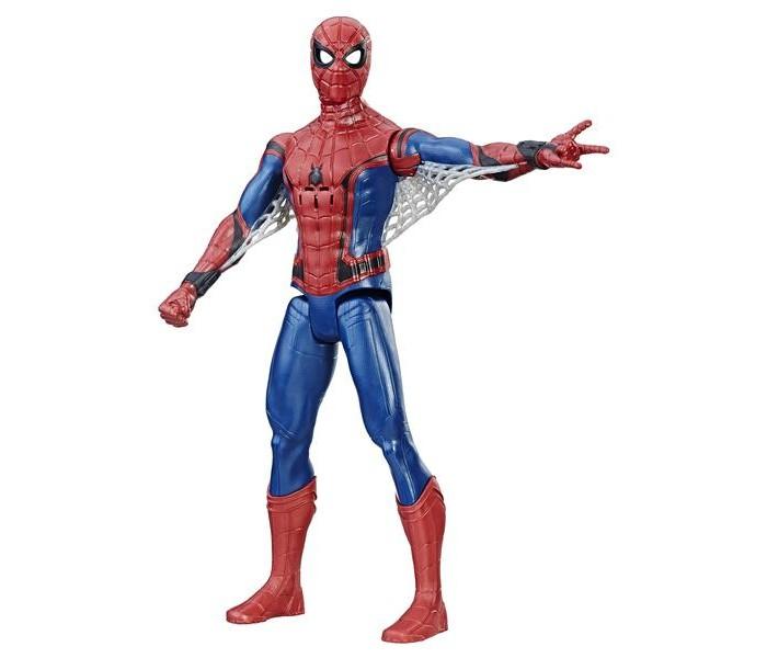 Spider-Man Фигурка Титан 30 смИгровые фигурки<br>Spider-Man Фигурка Титан 30 см станет отличным приобретением для ребенка.    Особенности:   Особенностью фигурки является, не только поднимать и опускать конечности, но и раздвигать в стороны На запястье игрушки расположен рычажок, управляющий включением световых и звуковых эффектов.