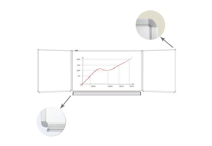 Brauberg Доска магнитно-маркерная 3-х элементная 5 рабочих поверхностей 100х150/300 см