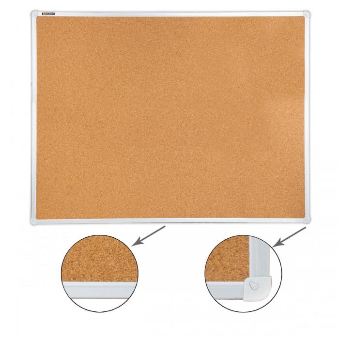 Доски и мольберты Brauberg Доска пробковая для объявлений алюминиевая рамка 90х120 см