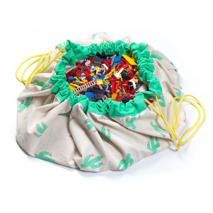 Купить Ящики для игрушек, Play&Go 2 в 1: мешок для хранения игрушек и игровой коврик Кактус