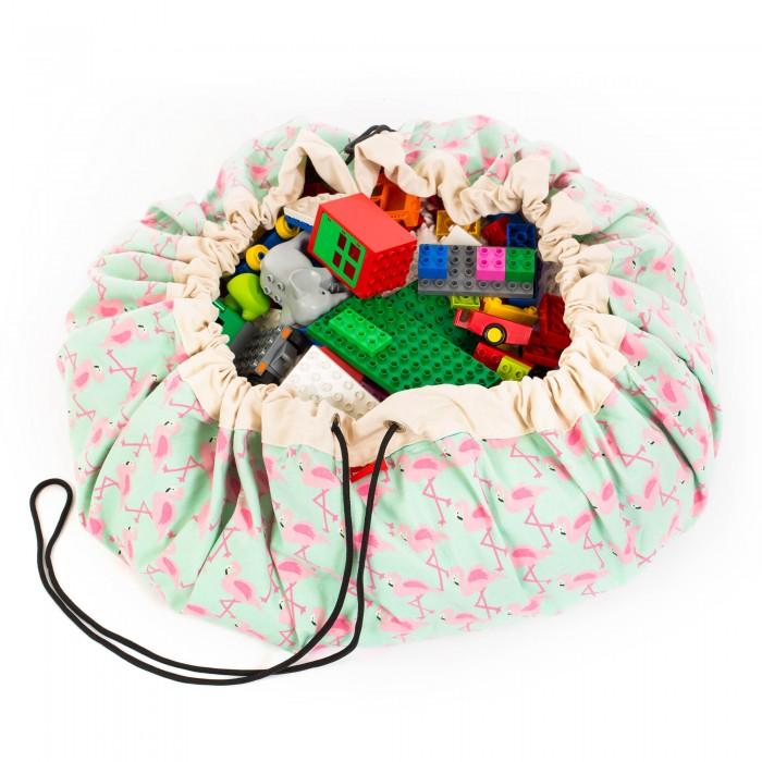 Купить Ящики для игрушек, Play&Go 2 в 1: мешок для хранения игрушек и игровой коврик Фламинго
